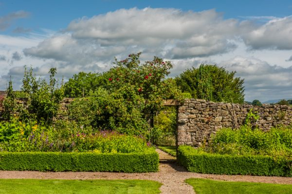 Morland House Gardens photo, The croquet lawn and walled garden