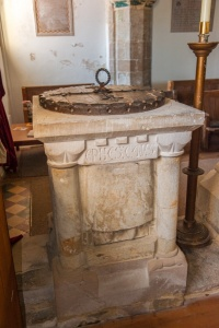 The 12th century font (restored)