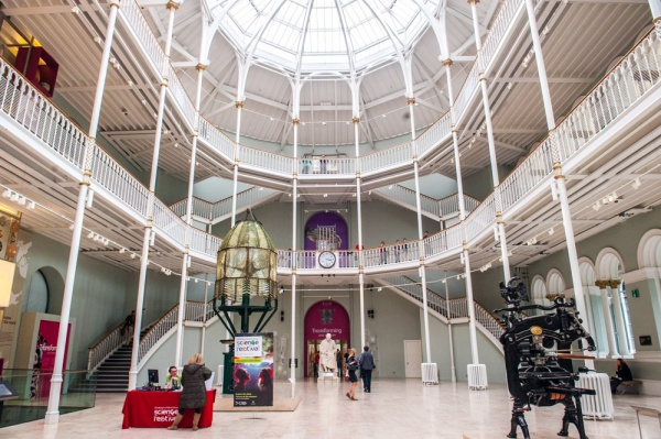 The Grand Gallery in the National Museum of Scotland