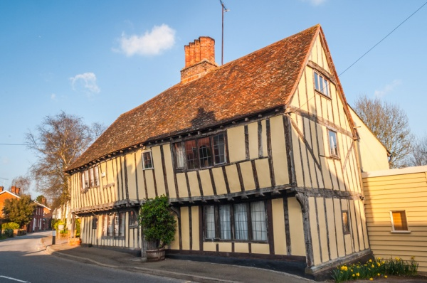 A typically pretty timber-framed house in Nayland
