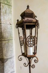 A Victorian candle holder