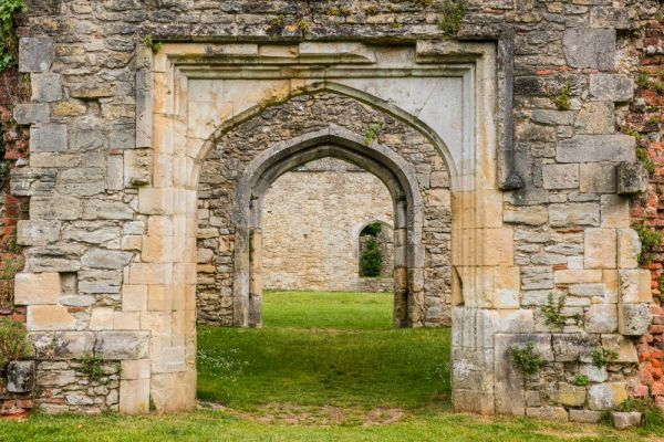 Netley Abbey photo, Doorways to the cloisters