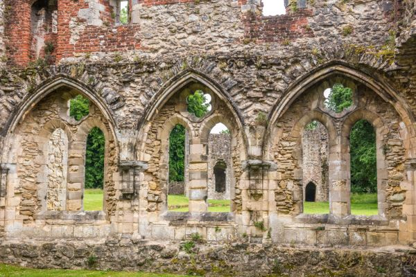 Netley Abbey photo, The Chapter House windows