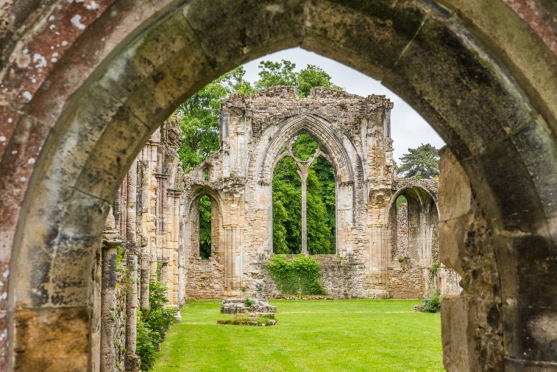 The church ruins at Netley Abbey