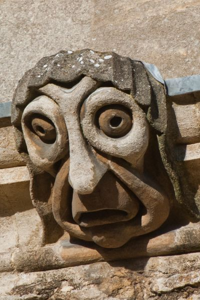 New College photo, Another carved face, New College Lane