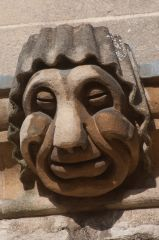Grotesque carving, New College Lane