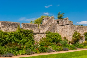 The medieval city wall in New College gardens
