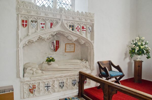 Newton Green, All Saints Church photo, Memorial to Margaret Boteer, 1410