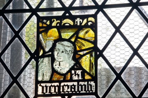 Newton Green, All Saints Church photo, Medieval stained glass in the chancel