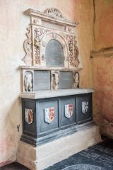 Memorial to John Palgrave, d. 1611