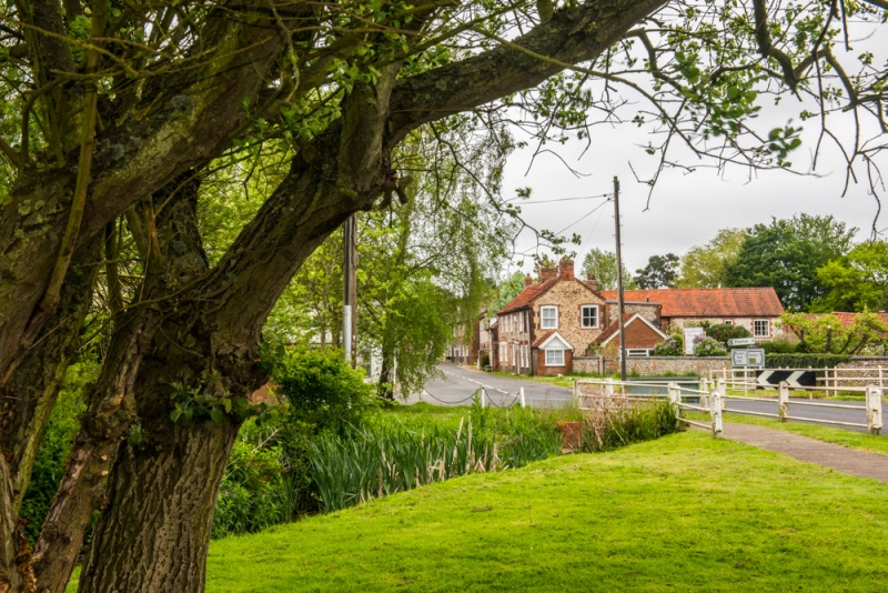 The village green in North Creake