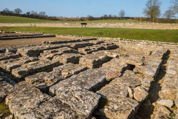 North Leigh Roman Villa photo, Remains of a hypocaust system