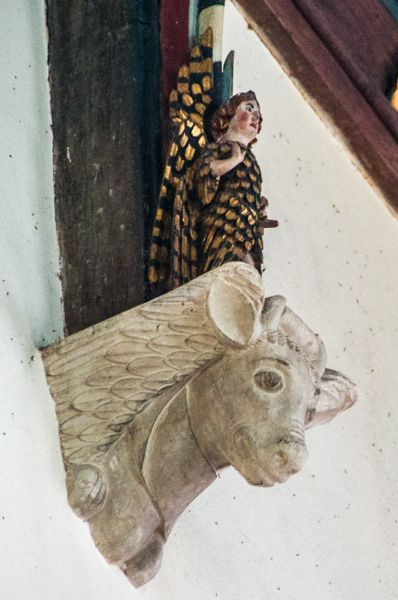 Northwold, St Andrew's Church photo, Corbel head of a cow