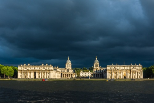 Old Royal Naval College from across the River Thames