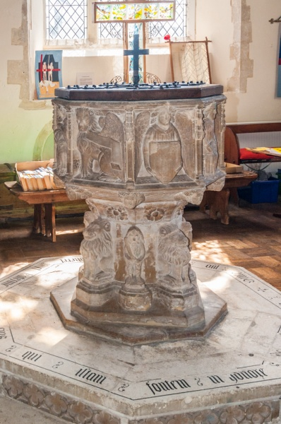 The early 15th century font