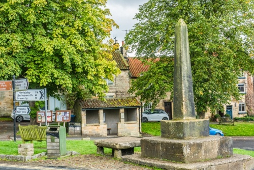 Osmotherley village green and market cross