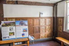 The antechamber, with 17th century panelling
