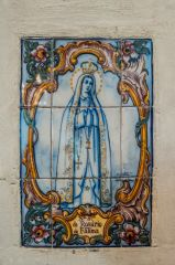 Tile panel to St Rosario of Fatima