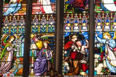 Richly coloured Victorian stained glass