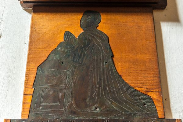 Oxford, St Mary Magdalen Church photo, Elizabethan memorial brass, 1580