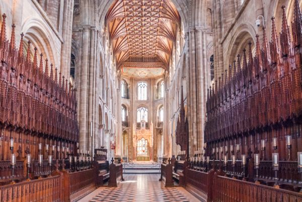 Peterborough Cathedral photo, The late medieval choir