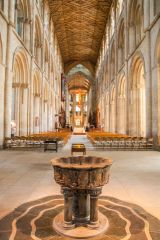 Peterborough Cathedral, The 13th century marble font