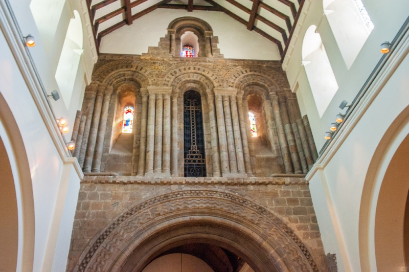 The 12th century tower arch