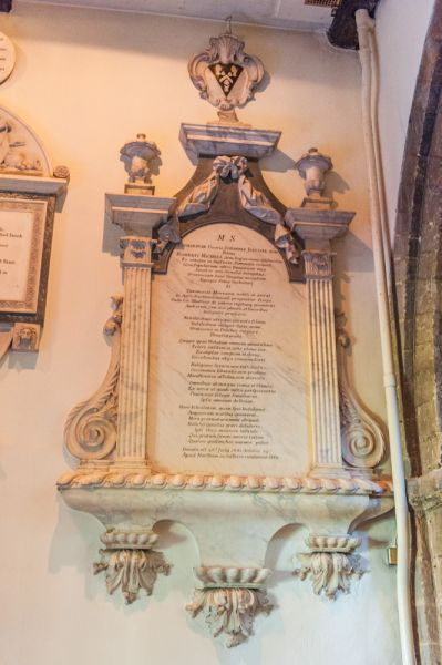 Petersfield, St Peter's Church photo, Catherine Jolliffe memorial, 1731