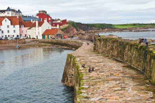 The harbour wall at Pittenweem