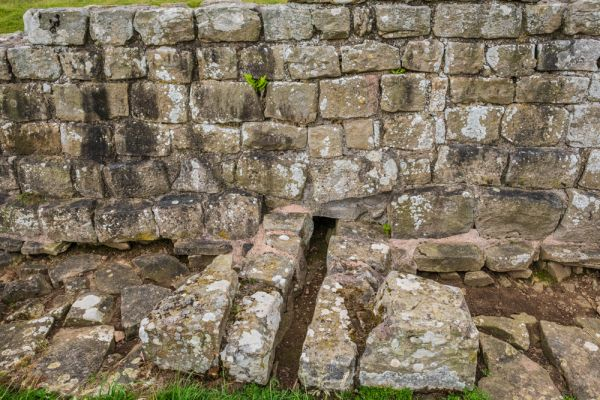 Planetrees Roman Wall (Hadrian's Wall) photo, A water channel under the Wall