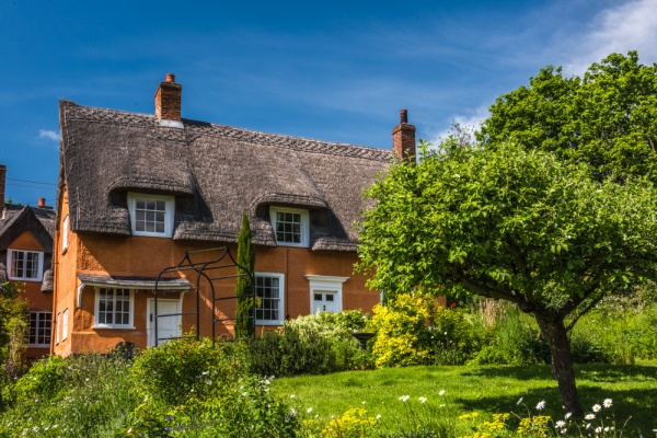 A thatched cottage in Polstead