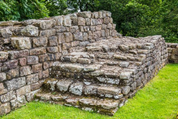 Poltross Burn Milecastle (Hadrian's Wall) photo, Stairs leading to the parapet walk