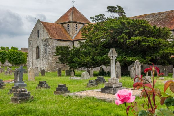 Southwick Priory photo, St Mary's church, Portchester, the original Priory setting