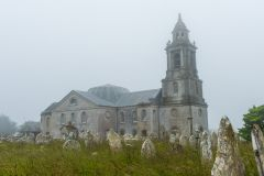 St George's church in the mist