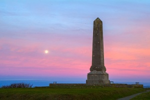 Portland cenotaph at dawn