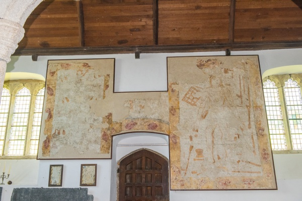 Early 16th century wall paintings, north nave wall