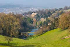 Prior Park Landscape Garden, Prior Park with the city of Bath beyond