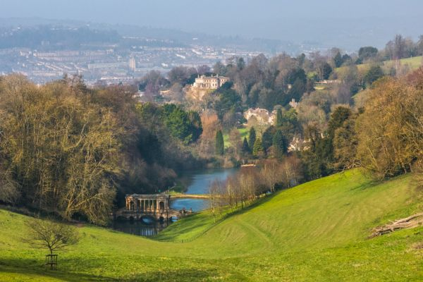 Prior Park Landscape Garden photo, Prior Park with the city of Bath beyond