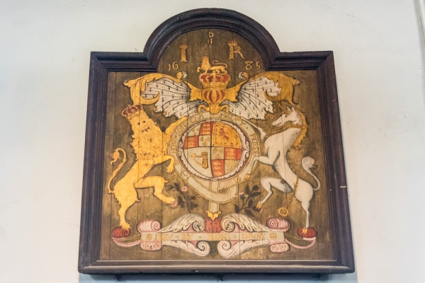 The 1685 James II royal coat of arms