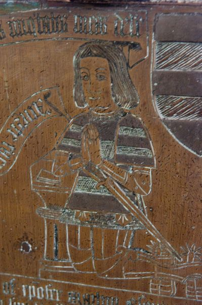 Puddletown, St Mary's Church photo, Memorial brass to Christopher Martyn, 1524