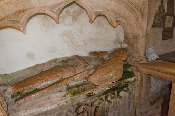 Puddletown, St Mary's Church photo, 13th century tomb of a Martyn family knight