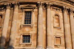 Radcliffe Camera, Classical columns on the first floor exterior