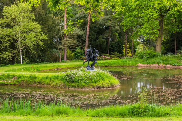 Raveningham Hall photo, The Millennium Pond and sculpture