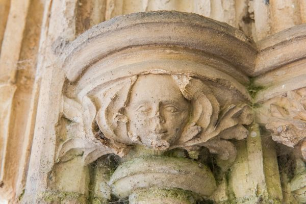 Redgrave, St Mary's Church photo, Carved capital on the south doorway
