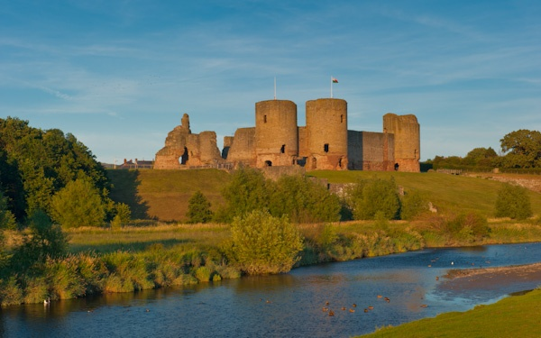 Rhuddlan Castle, a CADW property in north Wales