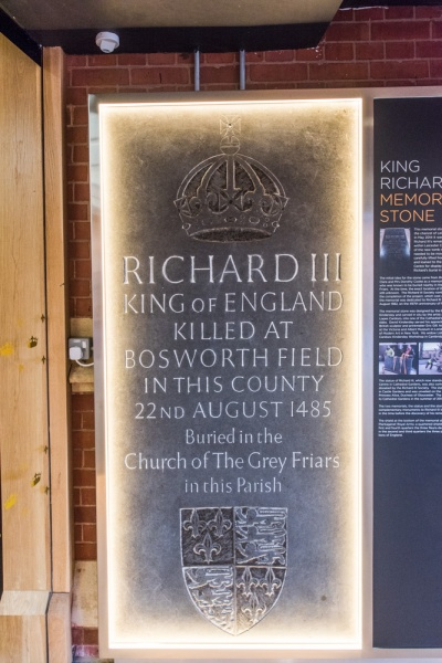 The Richard III Stone, originally in Leicester Cathedral