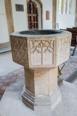 The ornate octagonal font