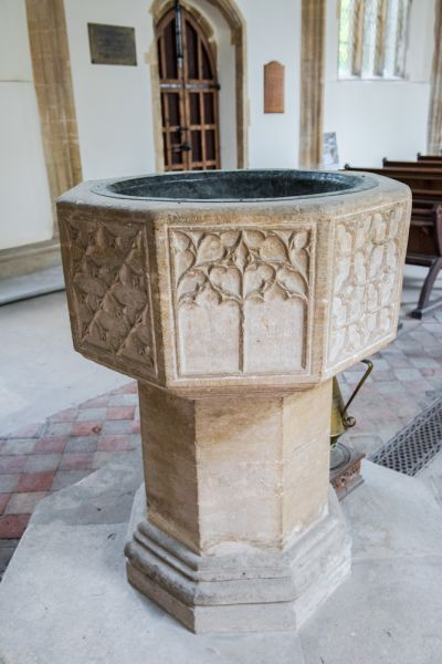 Rickinghall Superior, St Mary's Church photo, The ornate octagonal font