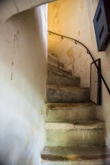 Stairs to the parvise chamber over the porch