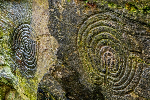 The Rocky Valley Labyrinth carvings